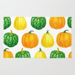 Pumpkins watercolor pattern Rug