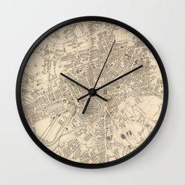 Vintage Map of Leeds England (1851) Wall Clock