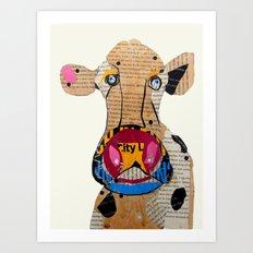 cow frazer Art Print