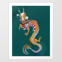 Dragonboat Art Print