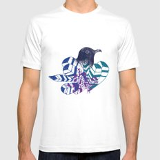 birdy Mens Fitted Tee MEDIUM White