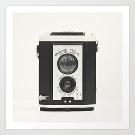 Brownie Reflex Camera Photography, Old Vintage Camera Art Print