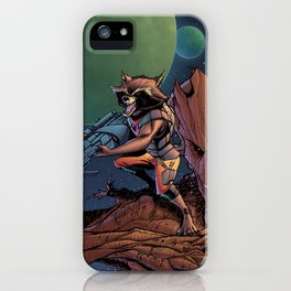 Rocket and groot iPhone Case