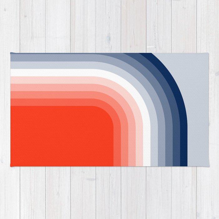 70s Stripes Rainbow Rug
