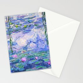 Claude Monet Water Lilies French Impressionist Art Stationery Cards