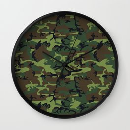 U.S. Woodland Camo Wall Clock