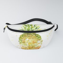 Pineapple Watercolor Abstract Fruit Painting Fanny Pack