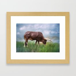 How Now Brown Cow Framed Art Print