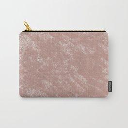 Soft rose gold velvet Carry-All Pouch