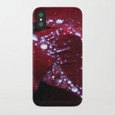 Diamonds on red velvet iPhone X Slim Case