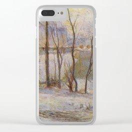 "Paul Gauguin - Garden under snow ""Jardin sous la neige"" (1879) Clear iPhone Case"