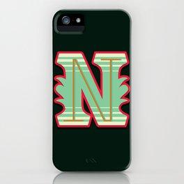 Alphabet Drop Caps Series- N iPhone Case
