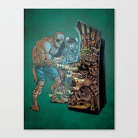 street fighter Canvas Prints featuring Street Fighter by Christopher Schons
