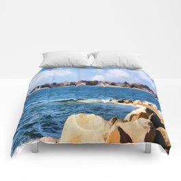New England Shoreline - Painterly Comforters