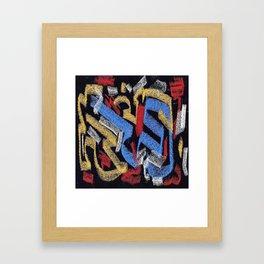 Abstract pastel multicolor Framed Art Print