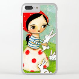Bunches of Bunnies cute painting by Tascha Clear iPhone Case