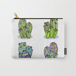 6 Striped Flowering Cacti Carry-All Pouch