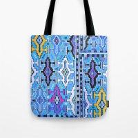 kilim Tote Bags featuring Aztec Kilim by EllaJo