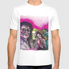 The Lost Zombie Boys White Mens Fitted Tee MEDIUM