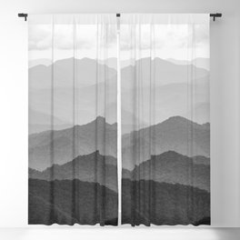 Forest Fade - Black and White Landscape Nature Photography Blackout Curtain