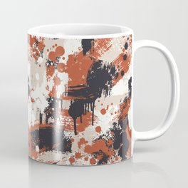 CUSTOM BURNT ORANGE & KHAKI SPLATTER CAMO 2 Coffee Mug