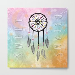 Sweet Dreams Dreamcatcher Metal Print