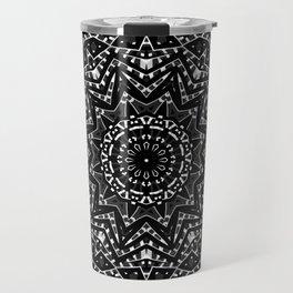 Black ornament 8 Travel Mug