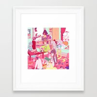 """study Framed Art Prints featuring """"Study"""" by Serene World"""