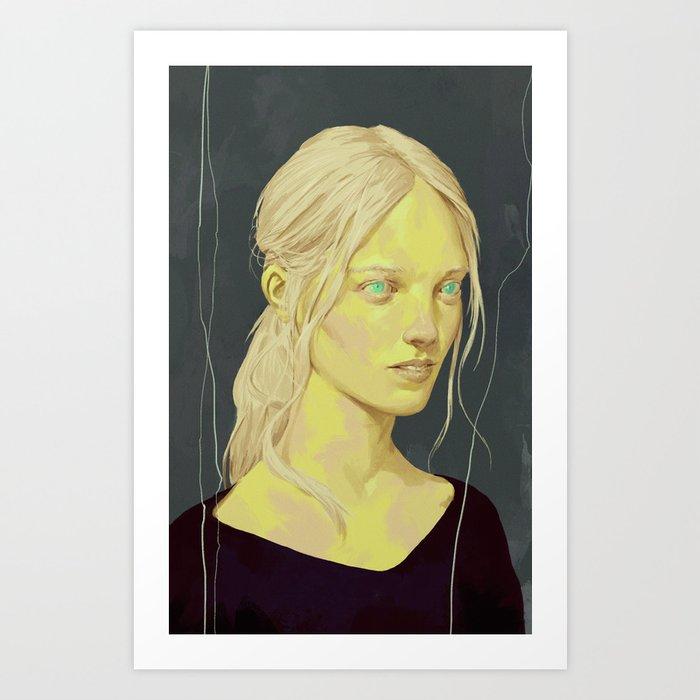 Pale Lady Art Print