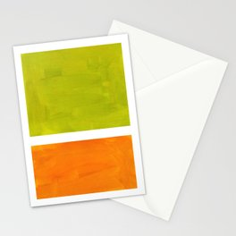 Retro Lime Green Minimalist Abstract Color Block Rothko Midcentury Modern Art Stationery Cards