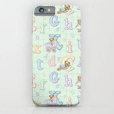 Teddy Bear Alphabet ABC's Green iPhone 6s Slim Case