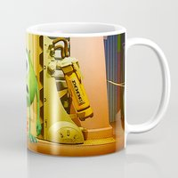 monster inc Mugs featuring  Monster Inc Mike Wazowski by Thorin