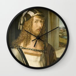 Self Portrait by Albrecht Durer, 1498 Wall Clock