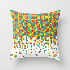 Pixel Chaos Throw Pillow