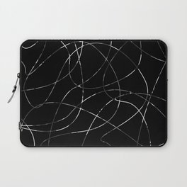 Abstract Threads Silver Dapple Laptop Sleeve