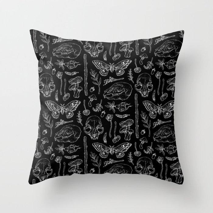 Witchcraft II [B&W] Throw Pillow