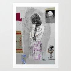 moon poem Art Print