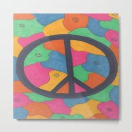 Groovy Peace Sign Metal Print