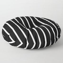Vertical Lines (White/Black) Floor Pillow