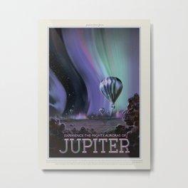 Retro Space Travel Poster NASA- Jupiter. Metal Print