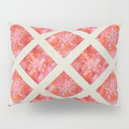Orange Maidenhair and Flowers Sunprint Trellis Pillow Sham