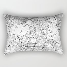 New Delhi Map White Rectangular Pillow