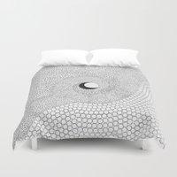 yin yang Duvet Covers featuring yin yang by Pao Designs