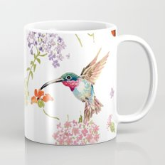 Hummingbird floral Mug