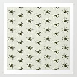 Spiders grey Art Print