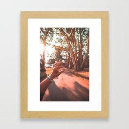 Sun Flare Golden Snitch Framed Art Print