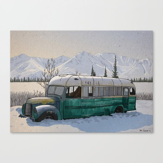 Into the Wild Fairbanks Bus Canvas Print
