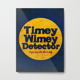 Doctor Who: Timey Wimey Detector Metal Print
