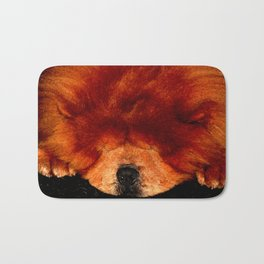 Sleeping Chow Chow Bath Mat