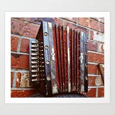 Little accordion Art Print